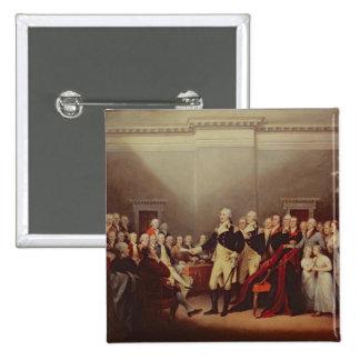 The Resignation of George Washington 2 Inch Square Button
