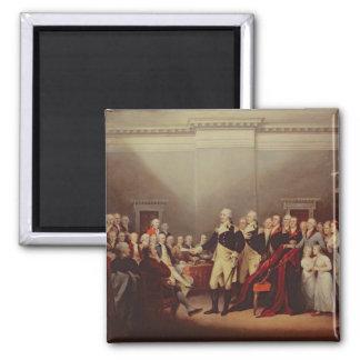 The Resignation of George Washington 2 Inch Square Magnet