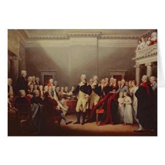 The Resignation of George Washington Card