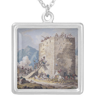 The Resistance of Forty Greek Rebels Square Pendant Necklace