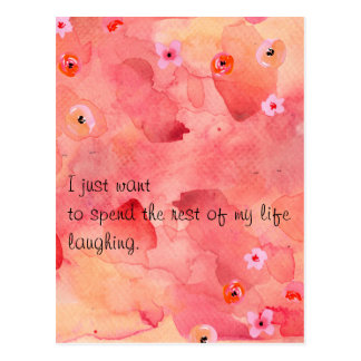 The Rest of My Life Laughing Postcard