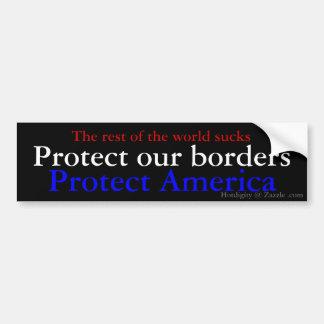 The rest of the world sucks, Protect America, P... Car Bumper Sticker