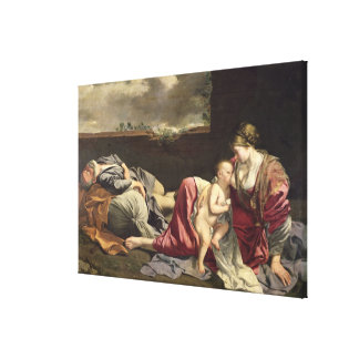 The Rest on the Flight into Egypt, 1628 Canvas Print