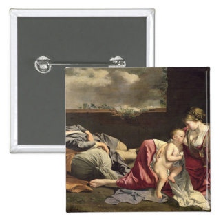 The Rest on the Flight into Egypt, 1628 Pinback Button