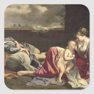 The Rest on the Flight into Egypt, 1628 Square Sticker