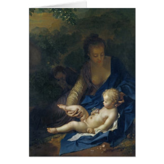 The Rest on the Flight into Egypt, 1706 Card
