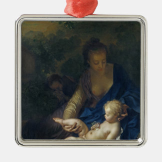 The Rest on the Flight into Egypt, 1706 Metal Ornament