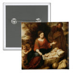 The Rest on the Flight into Egypt 2 Inch Square Button