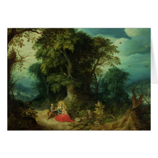The Rest on the Flight into Egypt Card
