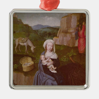 The Rest on the Flight into Egypt Metal Ornament