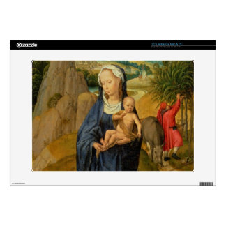 """The Rest on the Flight into Egypt (oil on panel) 15"""" Laptop Decal"""