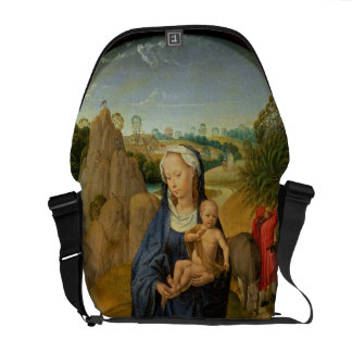 The Rest on the Flight into Egypt (oil on panel) Messenger Bag
