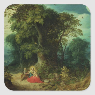 The Rest on the Flight into Egypt Square Sticker