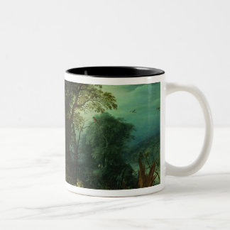 The Rest on the Flight into Egypt Two-Tone Coffee Mug