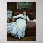 The Rest, portrait of Berthe Morisot Poster