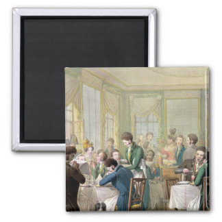 The Restaurant in the Palais Royal, 1831 Refrigerator Magnet