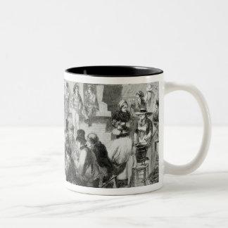 The Restaurant of wet feet Two-Tone Coffee Mug