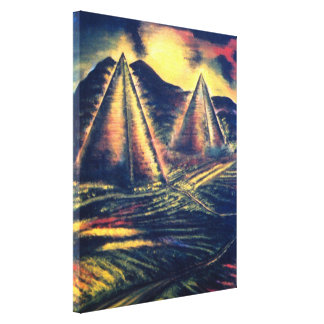 The Resting Place, Pyramids Canvas Print