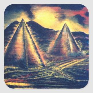The Resting Place, Pyramids Square Sticker
