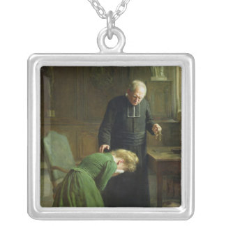 The Restitution, 1901 Silver Plated Necklace