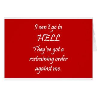 The Restraining Order Card