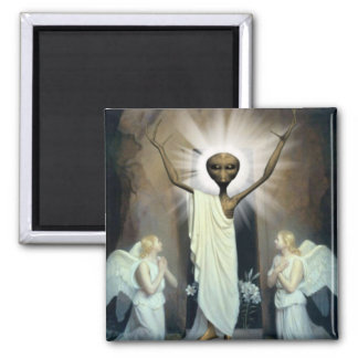 The Resurrection Of Alien Jesus Magnet