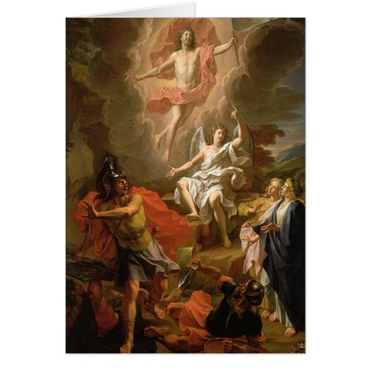 The Resurrection of Christ, 1700 Card
