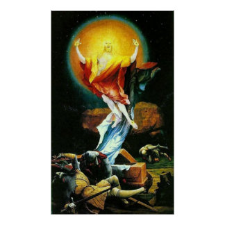 The Resurrection of Christ by Grunewald Poster