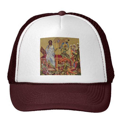 The Resurrection Of Christ By Meister Von Hohenfur Trucker Hat