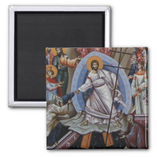 the Resurrection of Jesus 2 Inch Square Magnet