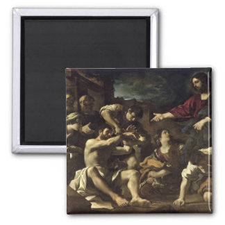 The Resurrection of Lazarus, c.1619 2 Inch Square Magnet