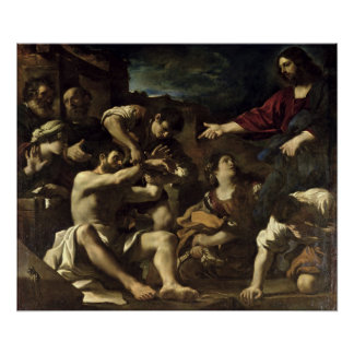 The Resurrection of Lazarus c 1619 Poster