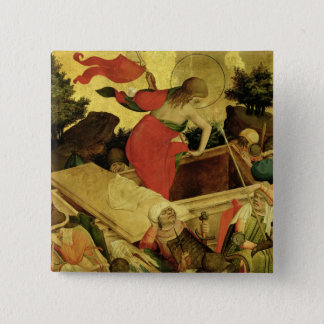 The Resurrection, panel from St. Thomas Altar Pinback Button