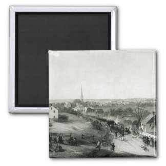 The Retreat of the British from Concord 2 Inch Square Magnet
