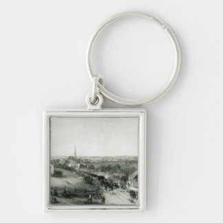 The Retreat of the British from Concord Keychain