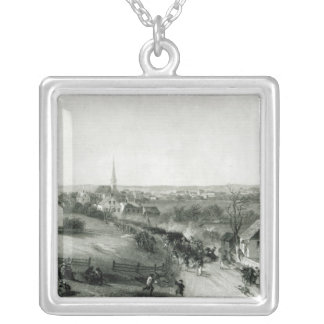 The Retreat of the British from Concord Silver Plated Necklace