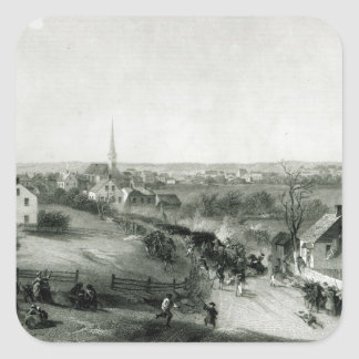 The Retreat of the British from Concord Square Sticker