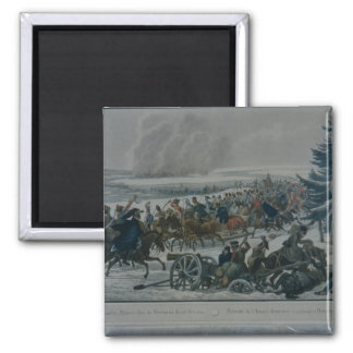 The retreat of the French army from Moscow 2 Inch Square Magnet