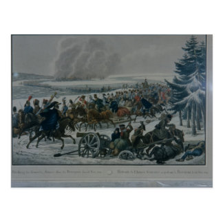 The retreat of the French army from Moscow Postcard