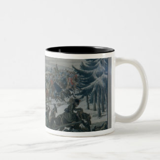 The retreat of the French army from Moscow Two-Tone Coffee Mug