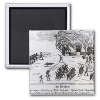 The Retreat, published 1775 2 Inch Square Magnet