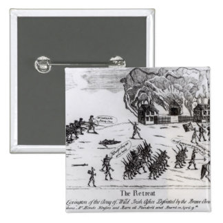 The Retreat, published 1775 2 Inch Square Button