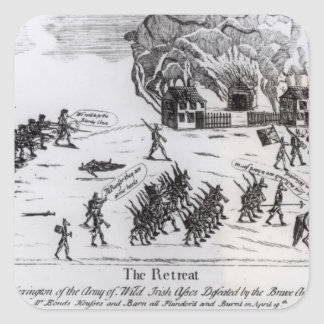 The Retreat, published 1775 Square Sticker