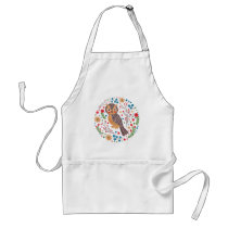 The Retro Horned Owl Adult Apron