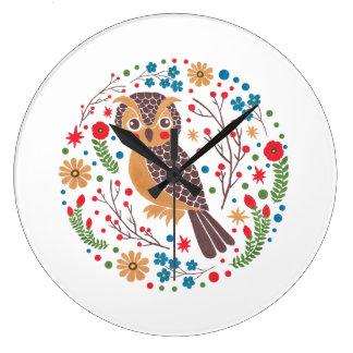 The Retro Horned Owl Clock