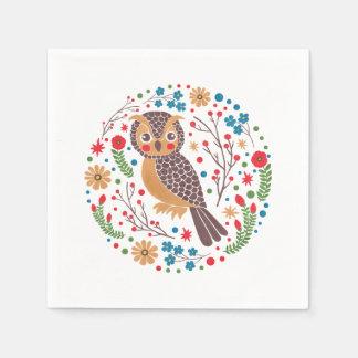 The Retro Horned Owl Napkin