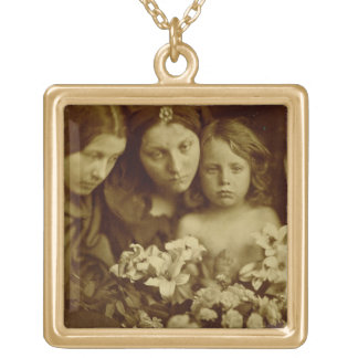 The Return after Three Days, c.1865 (sepia photo) Gold Plated Necklace