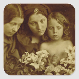 The Return after Three Days, c.1865 (sepia photo) Square Sticker