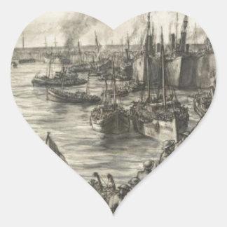 The Return From Dunkirk Heart Sticker