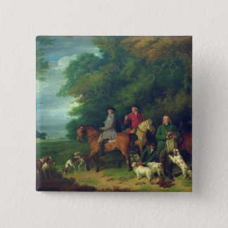 The Return from Shooting, 18th century Button